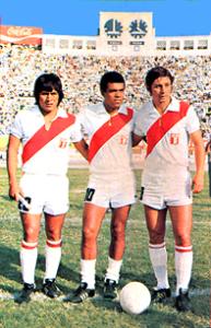 Teófilo Cubillas (midden) in 1973
