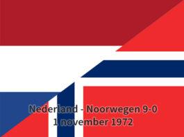 Nederland - Noorwegen 9-0, 1 november 1972