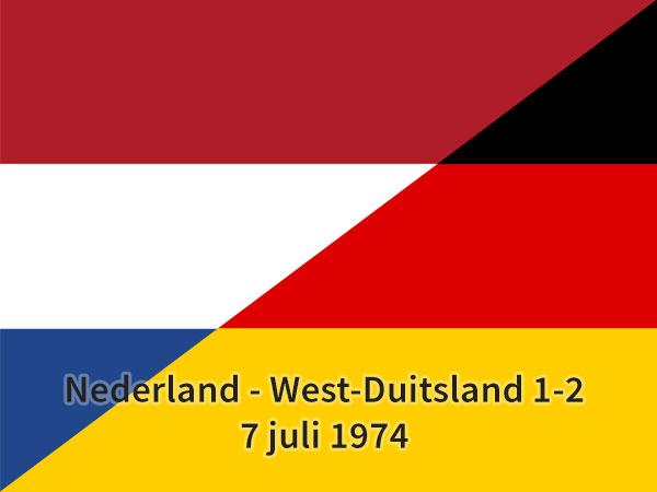 Nederland - West-Duitsland 1-2, 7 juli 1974