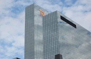 De Delftse Poort in Rotterdam. Hoogste gebouwen van Nederland, de top 30