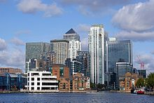 Canary Wharf in de Docklands