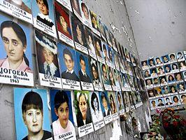 Foto's van de slachtoffers van de gijzeling in Beslan