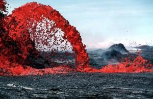 Pahoeo magma fontein