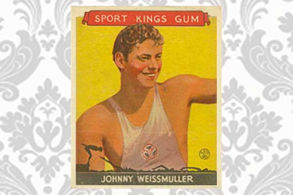 Johnny Weissmuller, de oude Tarzan