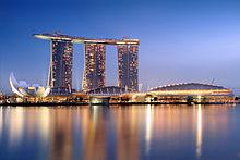 Marina Bay Sands in Singapore, één van de duurste gebouwen ter wereld
