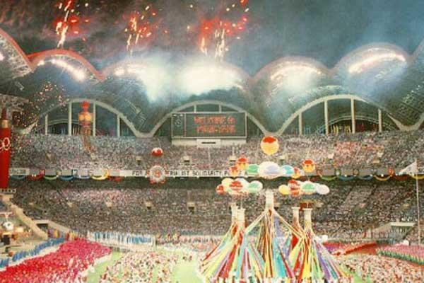 Rungrado Stadion in Noord-Korea