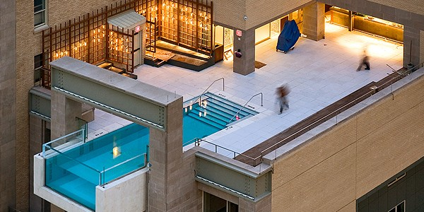 De mooiste zwembaden ter wereld, de Top 10, The Joule Hotel, Dallas, Verenigde Staten