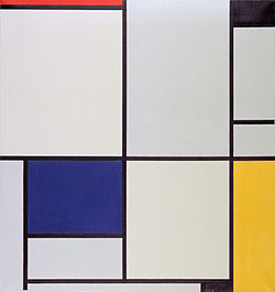 Mondriaan Compositie Yellow
