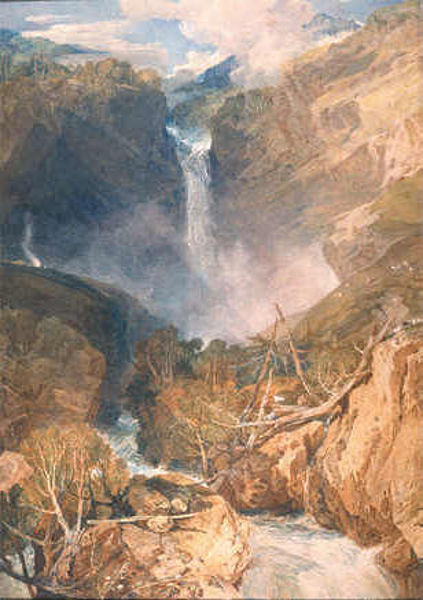 De Reichenbach Waterval door Turner