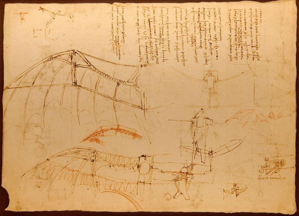 Ornicopter van Leonardo da Vinci