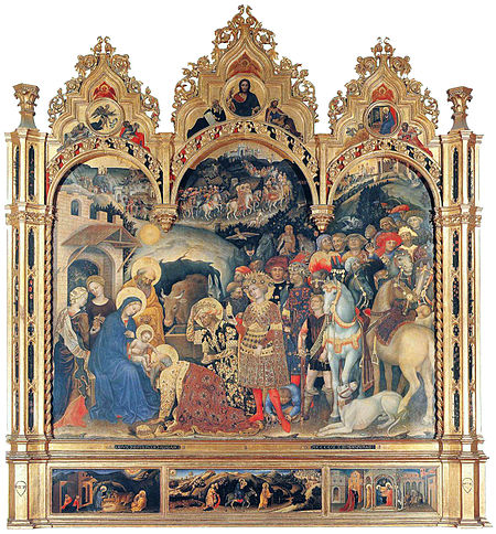 Gentile da Fabriano - Adorazione dei Magi / Adoration Of The Magi (1423 )