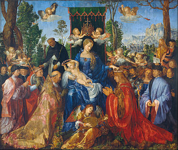 Albrecht Durer - Feast Of The Rosary / Rosenkranzfest