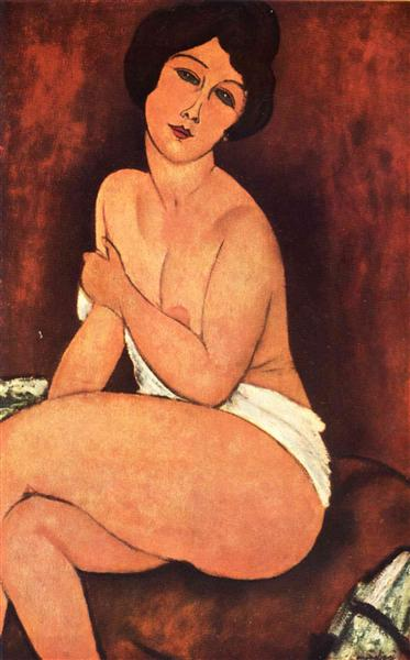 Amedeo Modigliani - Large Seated Nude