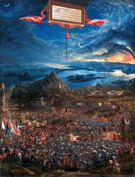 Albrecht Altdorfer - Alexanderschlacht / Battle Of Issus (1529)