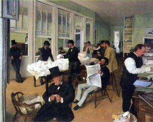 Le Bureau de coton à La Nouvelle-Orléans - Edgar Degas