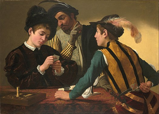 Caravaggio - Cardsharps (Ca. 1594)