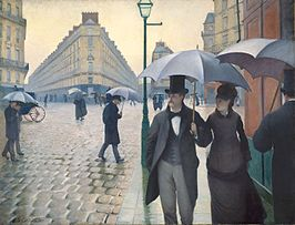 Gustave Caillebotte - Straat in Parijs, regenachtig weer