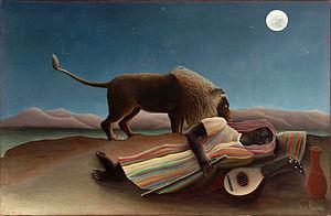 Henri Rousseau - De Slapende Zigeuner / La Bohémienne endormie