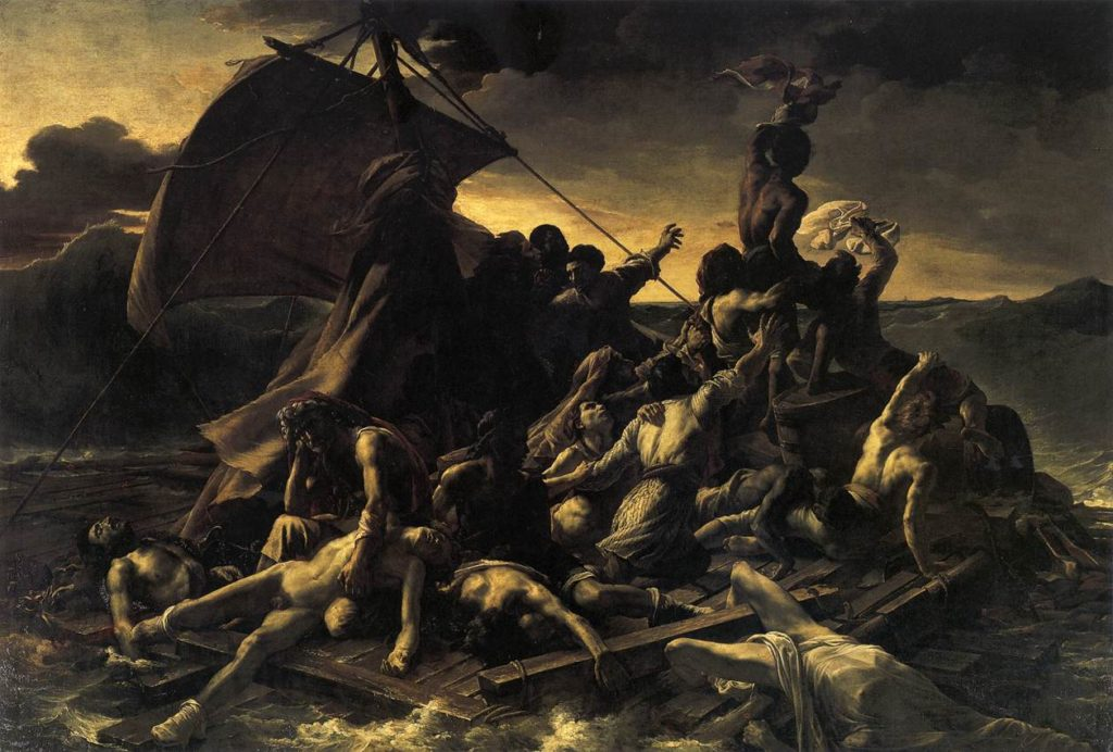 Theodore Gericault - Le radeau de la Méduse / Het Vlot van de Medusa / The Raft Of The Medusa (1818)