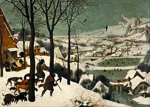 Pieter Bruegel de Oudere - Jagers in de sneeuw / Hunters In The Snow (1565)