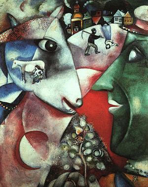 Marc Chagall - Ik en het dorp