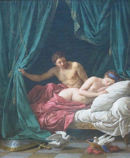 Louis-Jean-Francois Lagrenee - Mars et Vénus, allégorie sur la Paix / Mars And Venus Allegory Of Peace (1770)