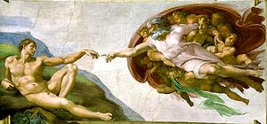 Michelangelo - De schepping van Adam