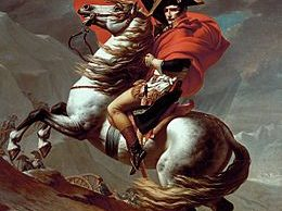 Jacques-Louis David - Napoleon steekt de Grote St. Bernardpas over