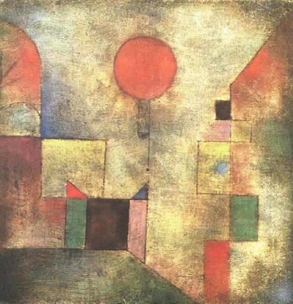Paul Klee - Roter Ballon / Red Balloon (1922)