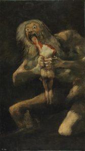 70. Francisco Goya - Saturno devorando a su hijo / Saturn Devouring His Son (1819-1823)