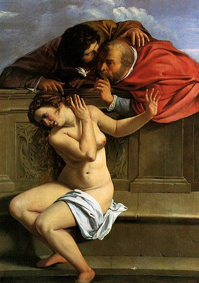 Artemisia Gentileschi - Susanna en de oudsten / Susanna And The Elders (1610)