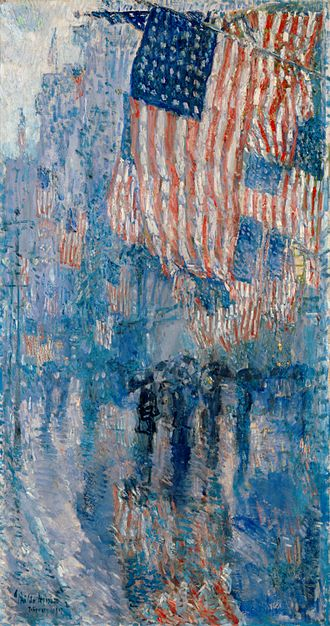 Childe Hassam - The Avenue In The Rain (1917)