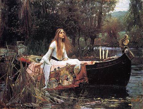 John William Waterhouse - The Lady Of Shalott / De vrouwe van Shalott (1888)