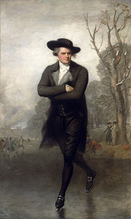Gilbert Stuart - Portrait Of A Gentleman Skating (1782)