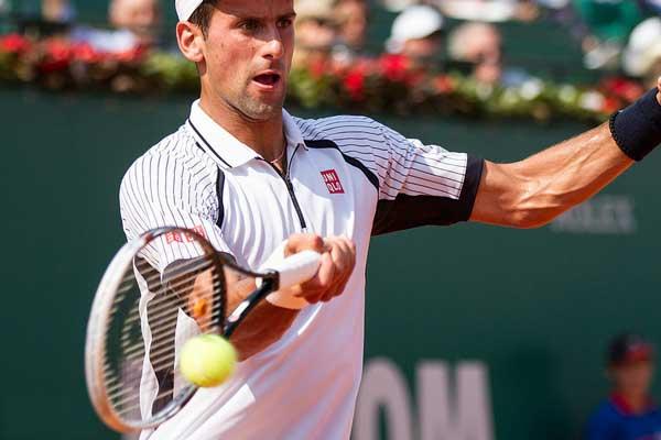 Snelste tennisser ter wereld is Novak Djokovic