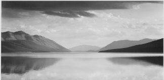 Adams Evening, McDonald Lake, Glacier National Park (1942)