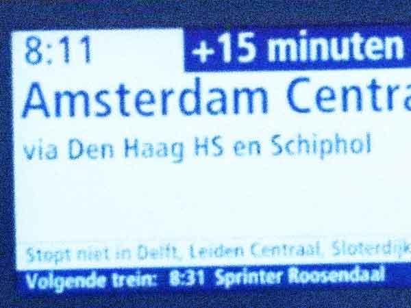 Welke trein heeft het meeste vertraging?