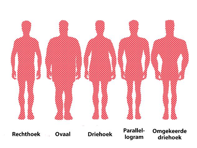 Perfecte mannelijke lichaam is de omgekeerde rechthoek