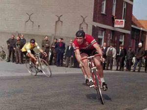 Willy Bocklant in een Belgische wielerkoers 1967