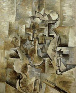 Georges Braque - Kruik en viool (1910)