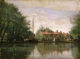 Jean-Baptiste Corot - Gezicht in Holland (circa 1850)