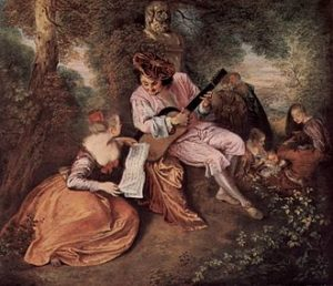 Het liefdeslied - Jean-Antoine Watteau