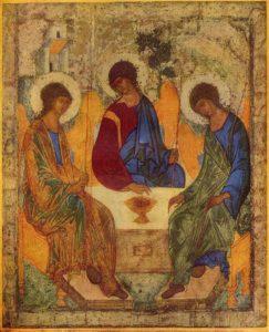 Andrei Rublev - Icoon van de Heilige Drie-eenheid (1425)