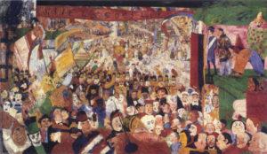 James Ensor - De intrede van Christus te Brussel (1888)