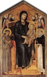 Maria met kind en heiligen - Cimabue