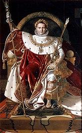 Napoleon op zijn keizerlijke troon in 1806 - Ingres