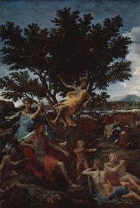 Nicolas Poussin - Apollon amoureux de Daphné (1664)