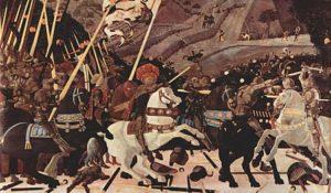 Paolo Uccello - Niccolò Mauruzi da Tolentino bij de Slag om San Romano (c. 1438-1440)