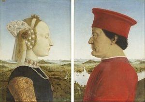 Piero della Francesca - Portretten van Federico da Montefeltro en Battista Sforza (1472)
