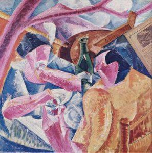 Umberto Boccioni. - Onder de Pergola in Napels (1914)